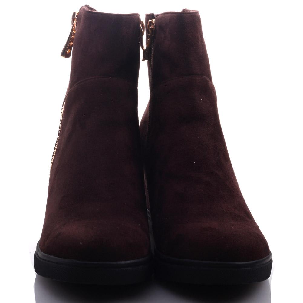unze womens feebie zipped wedge winter ankle boots uk size