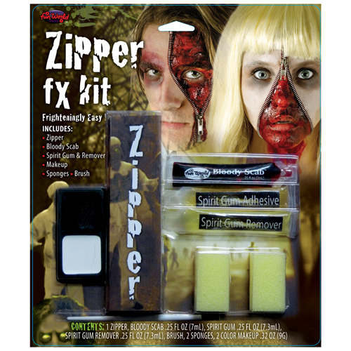 Zipper Face FX Kit Makeup for Fancy Dress
