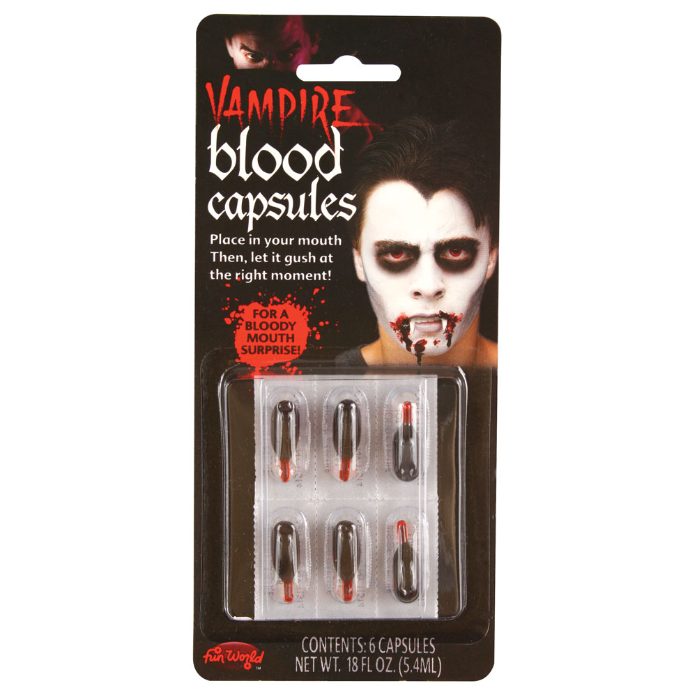 Vampire Blood Capsules Makeup for Fancy Dress