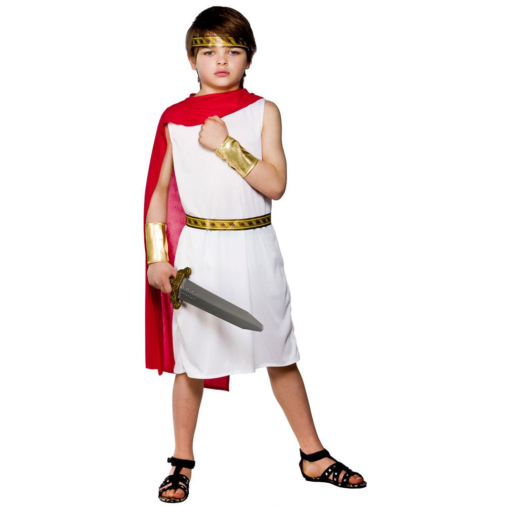 Boys roman boy costume for ancient historic fancy dress childrens kids