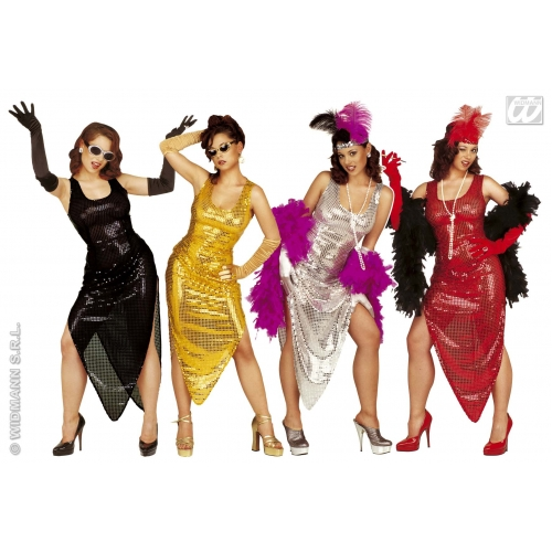 Fantastic Womens MOVIE STAR COSTUME Hollywood Starlet Ladies Fancy Dress Black