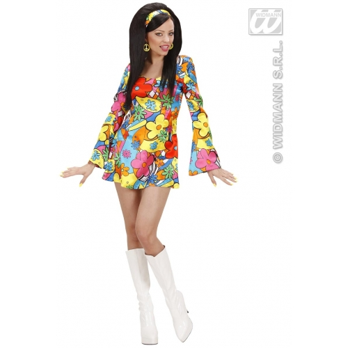 ladies flower power girl costume outfit for 60s 70s hippy. Black Bedroom Furniture Sets. Home Design Ideas