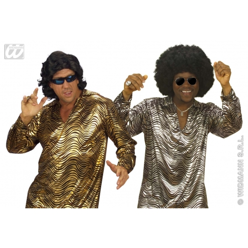 """XL Mens DISCO FEVER SHIRT Accessory for 70s Pop Music Night Fever Fame Fancy Dress Extra Large 46""""chest Adults Male"""