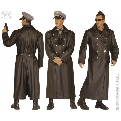 Mens-General-Coat-Leatherlook-Costume-for-WW2-WWII-  sc 1 st  eBay & Mens General Coat Leatherlook Costume for WW2 WWII War Army Soldier ...