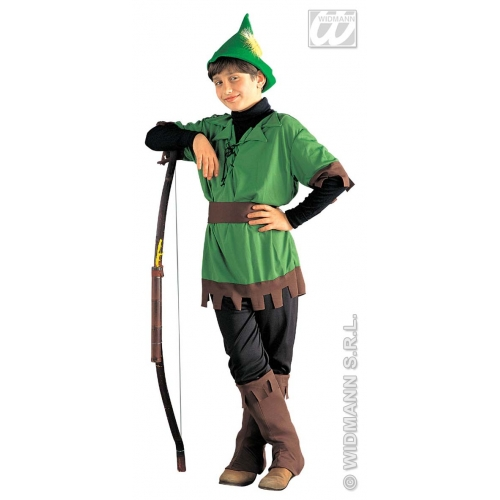 Boys robin hood costume outfit for hood middle ages medieval fancy