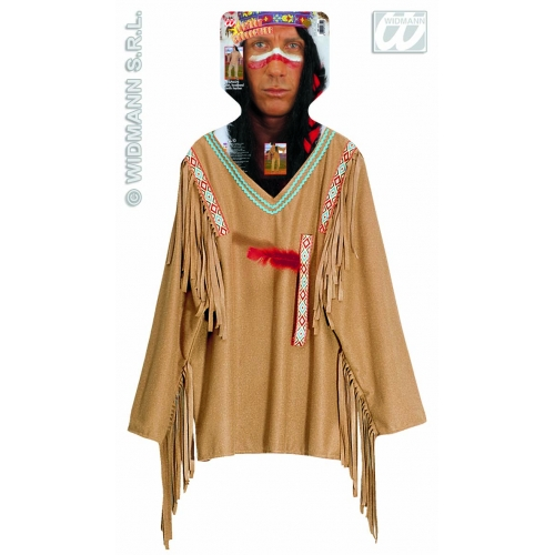 """XL Mens APACHE Costume for Native American Indian Fancy Dress Outfit Extra Large 46""""chest Adults Male"""