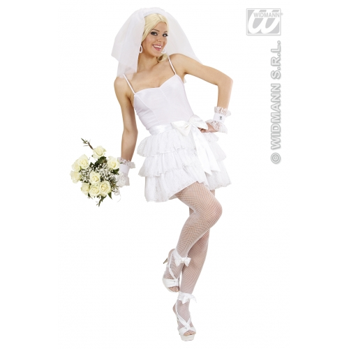 Ladies Womens Bride Costume Outfit For Wedding Hen Fancy