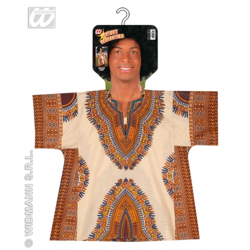 """Mens AFRICAN SHIRT SIZE Accessory for Africa Native Morrocan Fancy Dress 40-44""""chest Adults Male"""