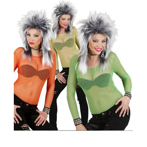 M Ladies FISHNET SHIRTS 1 of 3 Cols for Sexy Adult Role Play Fancy Dress Medium UK10-12 Adults Female