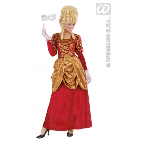 Ladies Bordeaux Marquise Dress Costume Outfit for Regency 17th 18th Century Fancy Dress