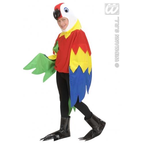 Children's Parrot Child Costume Outfit for Animal Jungle Farm Fancy Dress