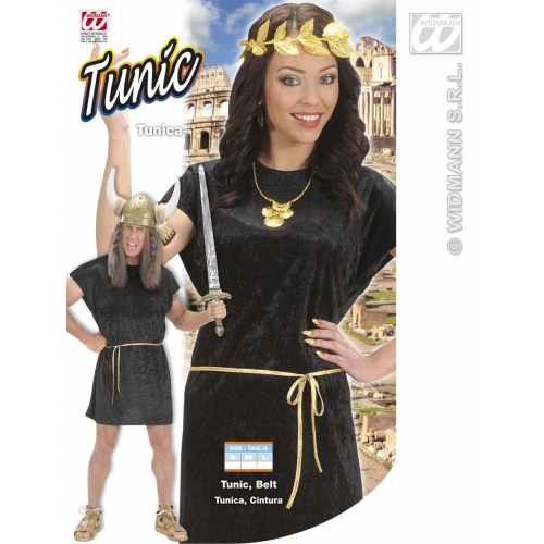 Black Tunic Costume Outfit for Roman Sparticus Fancy Dress