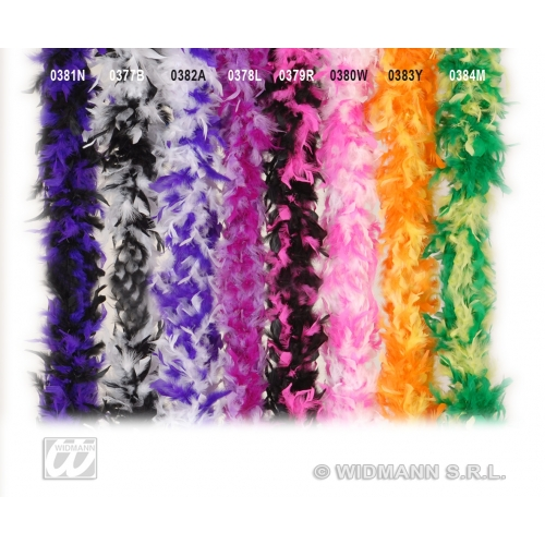 PINK/WHITE FEATHER BOA BICOLOUR 180cm Accessory for Flapper Molls Chorus Fancy D