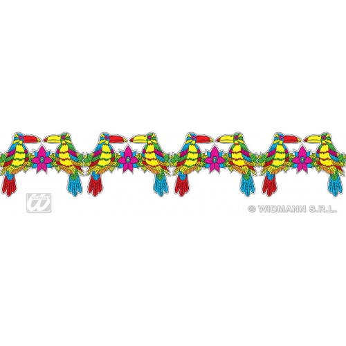 TOUCAN HAWAIIAN GARLANDS 3m for Hawaii Tropical Beach Magnum Five O Decoration Party