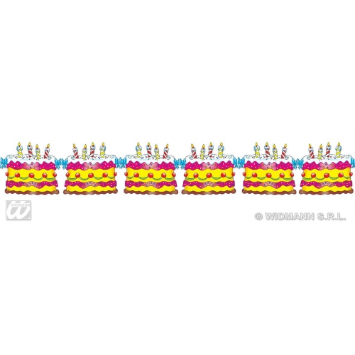 BIRTHDAY CAKE GARLANDS 3m Partyware for Party