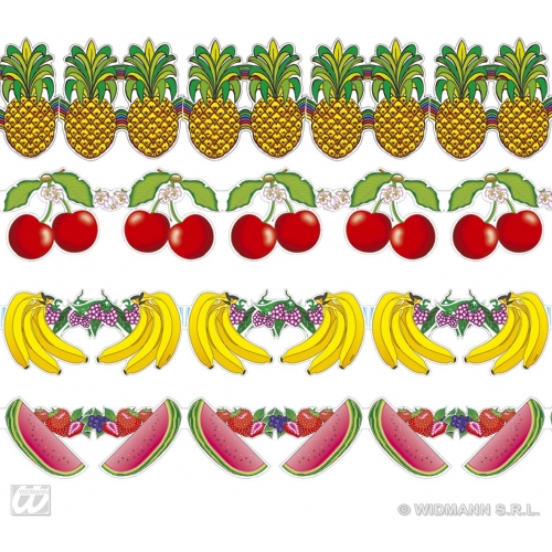 FRUIT GARLANDS 3m 1 of 4 styles for Food Grocer Healthy Mascot Decoration Party