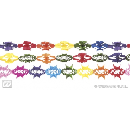 PAPER GARLAND 1 of 3 styles Accessory for Fancy Dress Party