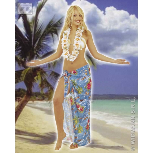 WAIKIKI LEIS DELUXE FABRIC Accessory for Hawaiian Tropical Beach Magnum Five O Fancy Dress Party