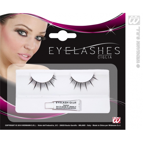 Black Eyelashes Long Spikes Makeup for Accessory Stage Accessory