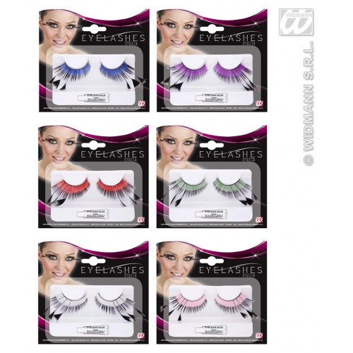 Eyelashes Colour Base & Black Tip Makeup for Accessory Stage Accessory