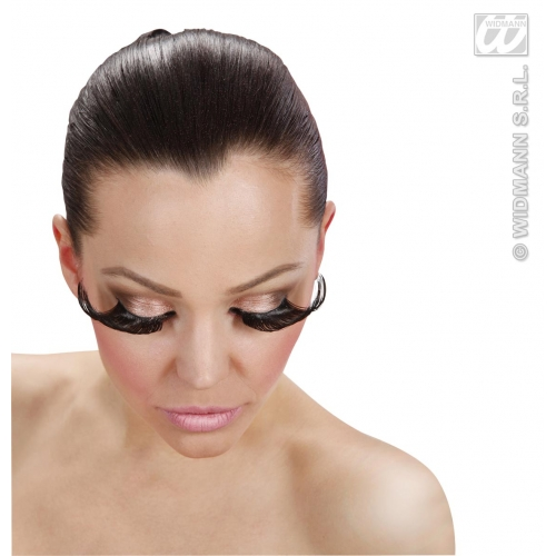 Black Eyelashes Extralong Makeup for Accessory Stage Accessory