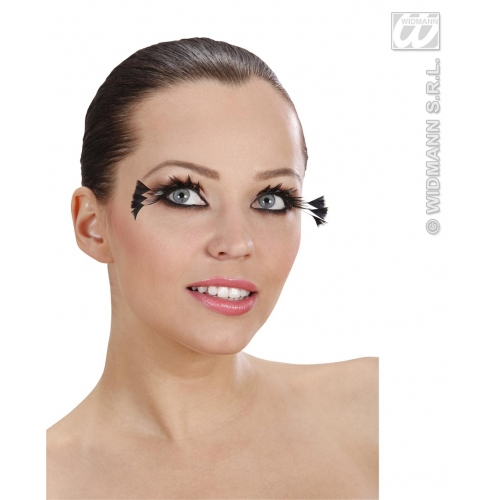 EYELASHES BLACK W/3 FEATHERS ON THE SIDES SFX for Cosmetics