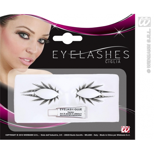 Eyelashes Set of Upper & Lower with Strass Makeup for Accessory Stage Accessory