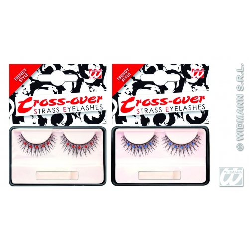 Black Eyelashes Cross Over Makeup for Accessory Stage Accessory
