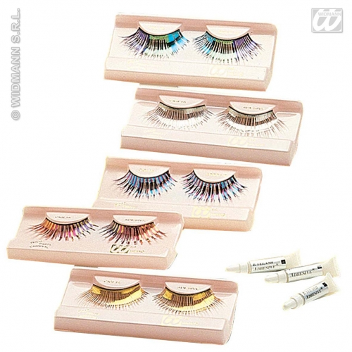 Eyelashes Metallic Long Makeup for Accessory Stage Accessory