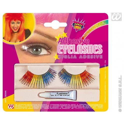 EYELASHES RAINBOW WITH ADHESIVE SFX for Cosmetics