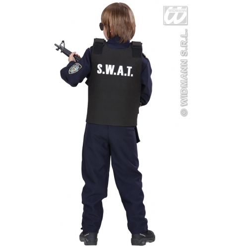 Boys SWAT VEST Accessory for Police Cop Special Forces Armed Response Fancy Dress 1Size Childs Kids