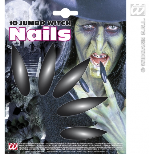 JUMBO WITCH NAILS SFX for Halloween Oz Eastwick Cosmetics