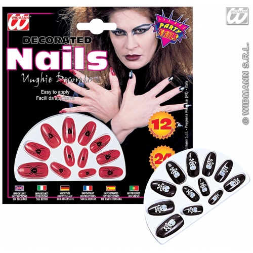 Printed Nails Makeup for Accessory Stage Accessory
