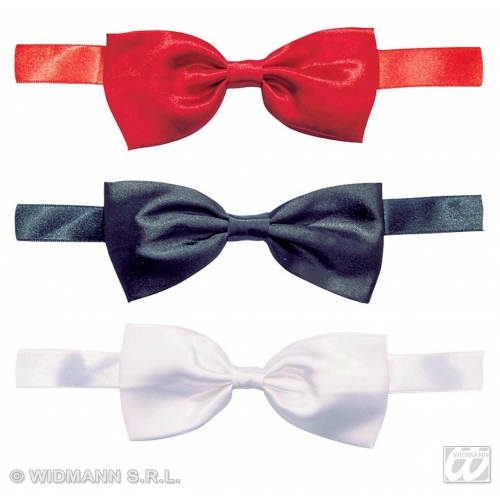 SATIN BOW PERFORMER TIE red/white/black Decoration for Hollywood Show Party