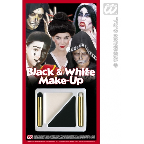 Black / White Makeup Kit for Face Body Paint Stage Accessory