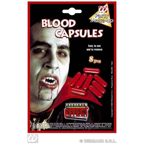 BLOOD CAPSULES MOVIE EFFECT SFX for Bleeding Wound Vampire Cosmetics