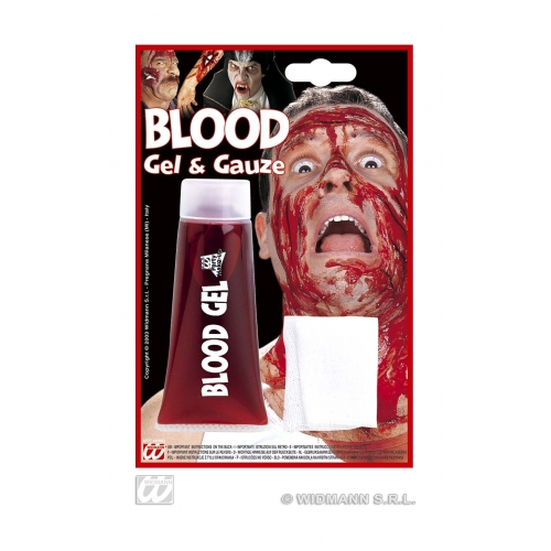 Maxi Blood Gel Tube with Gauze Makeup for Halloween Accessory Stage Accessory