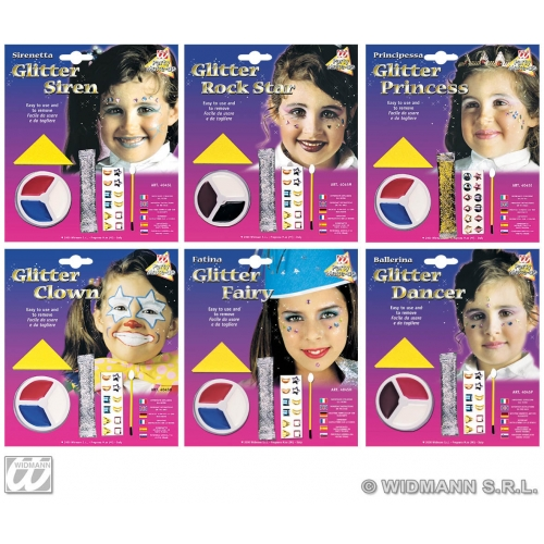 Glitter Girl Makeup Set for Face Body Paint Accessory Stage Accessory