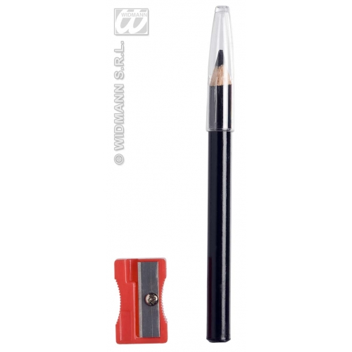 Black Pencil Liners with Sharpener for Makeup Paint Stage Accessory