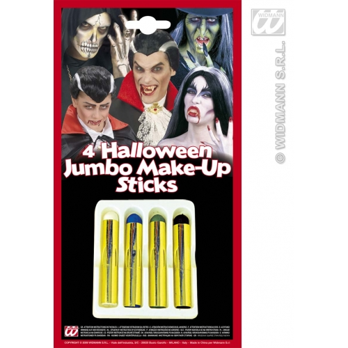 Make Up Sticks Halloween Jumbo Makeup for Face Body Paint Stage Accessory