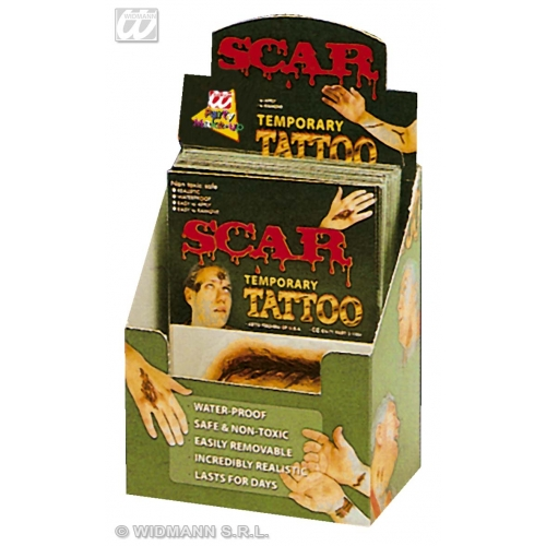 Scar Tattoos Makeup for Halloween Stage Accessory