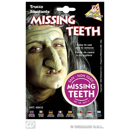 Missing Teeth Makeup for Ugly Witch Geek Freak Stage Accessory