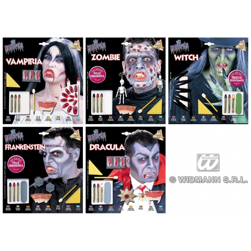 Makeup Set Deluxe Halloween for Face Body Paint Stage Accessory