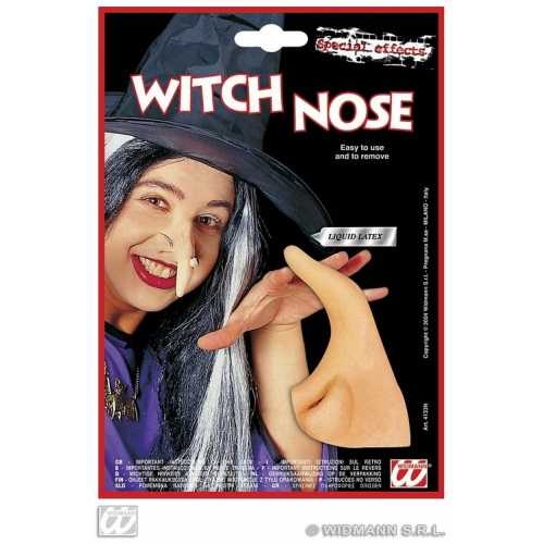 THEATRICAL WITCH NOSE W/ADHESIVE Accessory for Halloween Oz Eastwick Fancy Dress