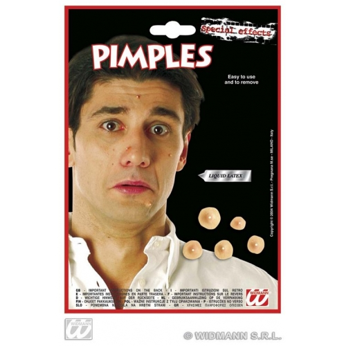 Pimples with Adhesive Makeup for School Pupil Stage Accessory