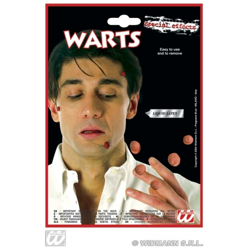 WITCH SFX WARTS WITH ADHESIVE SFX for Halloween Oz Eastwick Cosmetics
