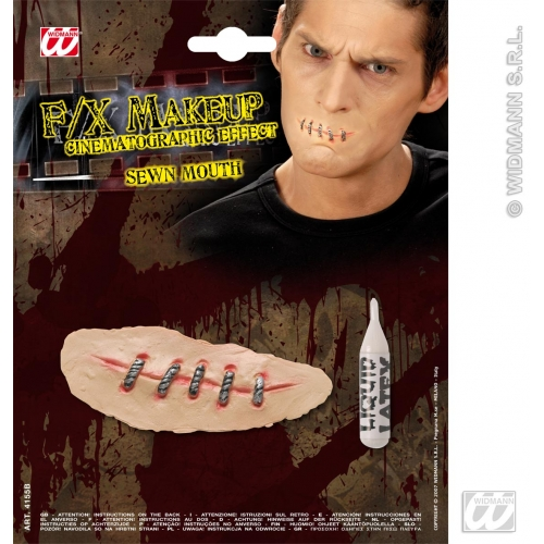 Special Effects SFx Sewn Mouths Makeup for SFX Halloween Stage Accessory