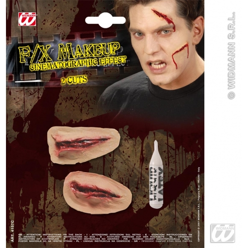 Special Effects SFx 2 Cuts Makeup for SFX Halloween Stage Accessory