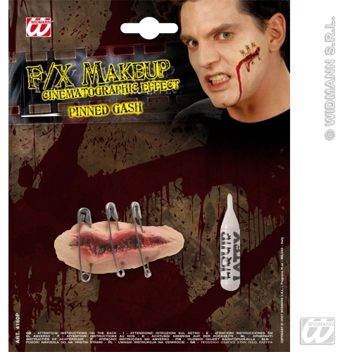 HALLOWEEN SFX PINNED GASHES SFX for Trick Or Treat Cosmetics