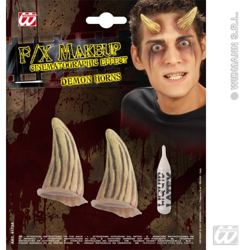 SFX DEMON HORNS SFX for Devil Satan Lucifer Antichrist Halloween Cosmetics